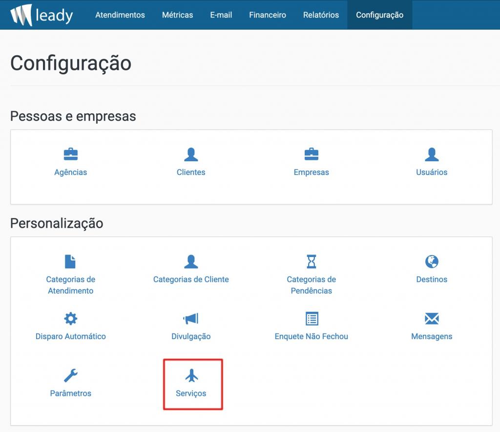 sistema-leady-configuração-serviços