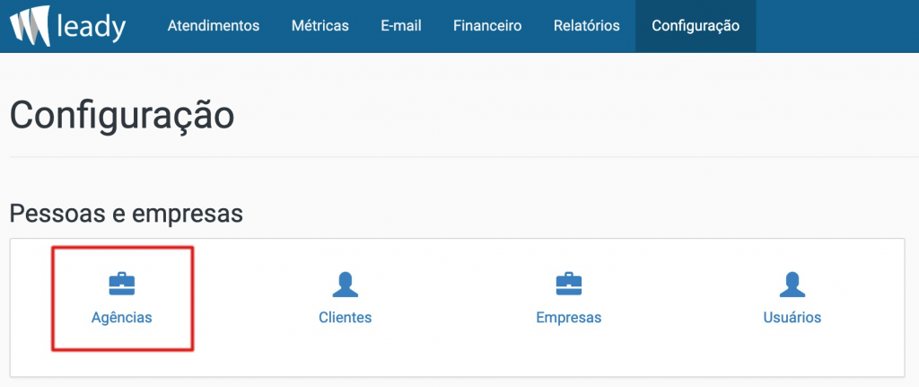 sistema-leady-configuração-conta-bancária-padrão