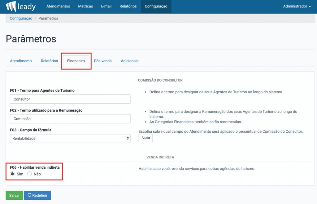 sistema-leady-configuração-ativar-vendas-indiretas