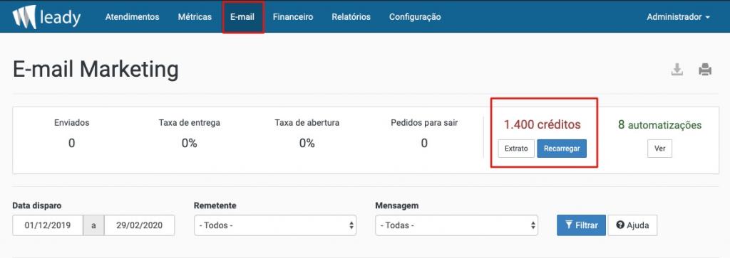 sistema-leady-verificar-créditos-emails